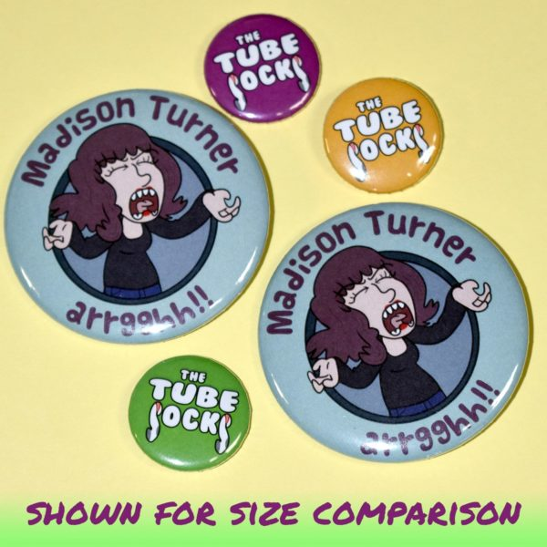 Small and Large Buttons for Bands - BandPosterPrinting.com