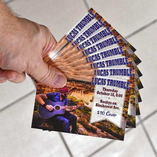 Small Flyers for Bands printed by Band Poster Printing in Michigan - BandPosterPrinting.com