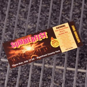 Cheap Ticket Printing for Bands - BandPosterPrinting.com