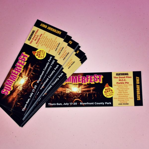 Print Tickets for Local Bands and Musicians for Concerts, Tickets Printed Fast and Cheap - BandPosterPrinting.com